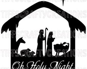Cricut christmas svg, o holy vinyl designs, christmas dxf files, nativity svg, o holy night, o holy svg designs, oh holy night, o holy png