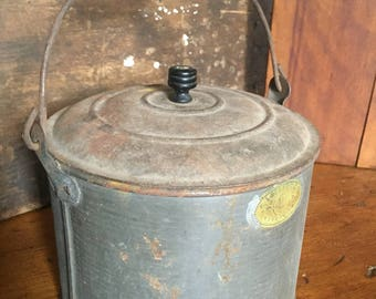 Antique Tin with Lid
