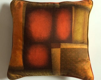 """Mid Century Cushion Covers in Abstract Print Fabric - Set of Three 17"""" x 17"""""""