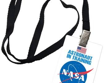 NASA Astronaut in Training Novelty ID Badge Prop Costume 0073