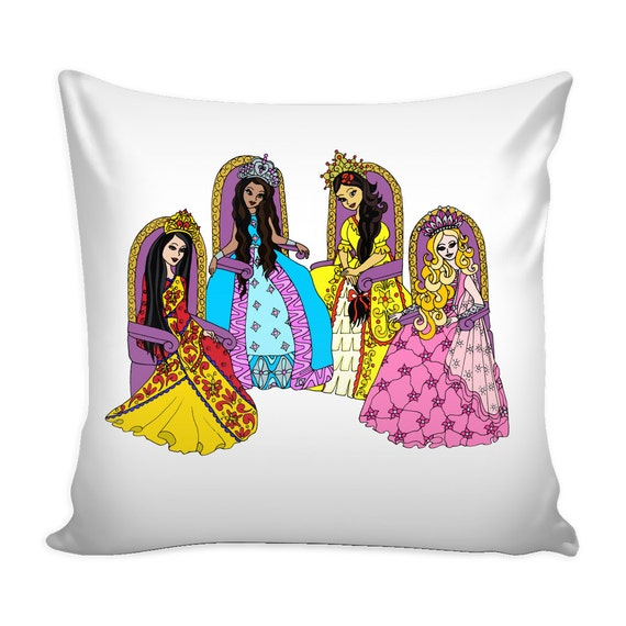 Pillow Cover - Circle Of Princess Friends