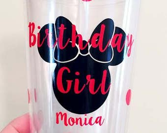 Minnie or Mickey inspired Tumbler