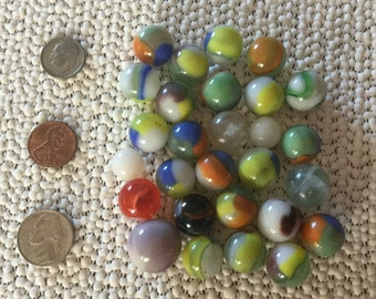 Vintage Glass Marbles Circa 1940's