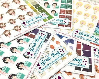 Mystery Grab Bags - 10 Sticker Sheets - Planner stickers - Non-misfit stickers