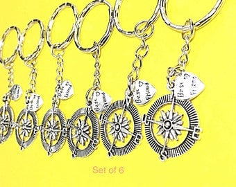 6 Best Friends, 6 bff keychains, bff monogram keychain, customized, personalized, keychain, 6 best friends, bff 6, best friends forever gift