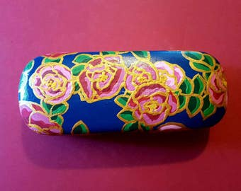 Handpainted Eyeglass Case- Chiffon Rose