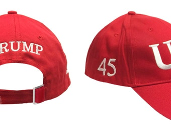 3 Sides Embroidery Cap Trump Usa 45 President Inauguration 100% Cotton Red  Hat Free Shipping