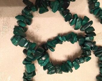 Malachite Polished Chip Stone Necklace