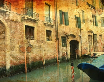 Venice Canal Photo, Old Building Photo, Old Building Fine Art,Buildings at Night,Venice Fine Art, Venice Photo Art, Light at Night,Fine Arts