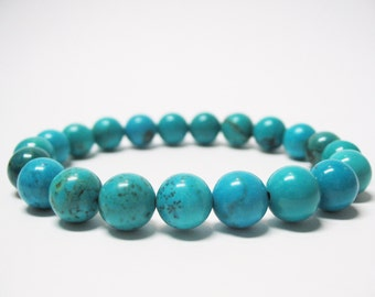 Turquoise Bracelet Turquoise Jewelry Throat Chakra Bracelet Mens Bracelet Spiritual Bracelet Balance Bracelet Unisex Bracelet Mala Bracelet
