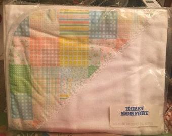 Vintage Receiving Blanket / Kozee Komfort Receiving Blanket / New Old Stock / 1970's