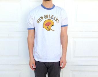Retro New Orleans Ringer Tee Shirt
