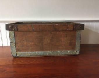 Vintage Industrial Bin - Vintage Wooden Crate - Wood Crate - Industrial Wood Crate - Wood Box - Wooden Box - Wooden Bin - Wooden Crate