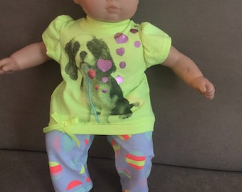New For American Girl Bitty Baby Bubble Puppy Outfit