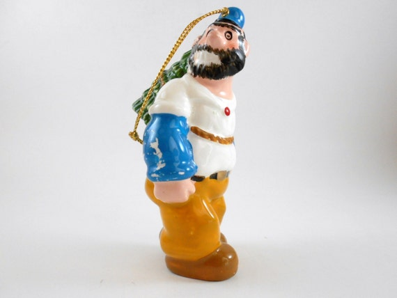 Vintage Brutus Christmas Ornament Collectible Ceramic Ornament Christmas Tree Decoration Home Decor Holiday Keepsake Comic Strip Ornament