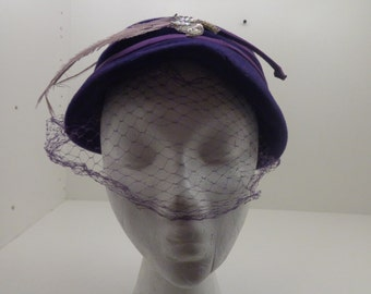 Vintage Deep Purple Hat