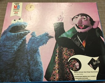 "Sesame Street Muppets Featuring Count and Cookie Monster 12 1/8 * 16"" By Jim Henson for kids 3-6"