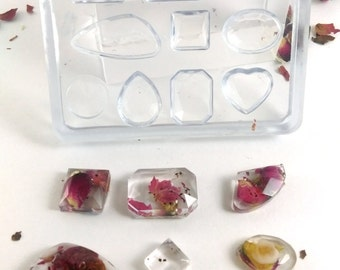 Super clear small cabochons jewel silicone Mold -  jewellery pendant,earrings,bracelet,art,craft