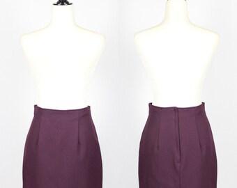SALE VTG Purple High Waist Mini Pencil Skirt