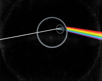 Star Wars/Pink Floyd 'Vinyl Record' Art Print