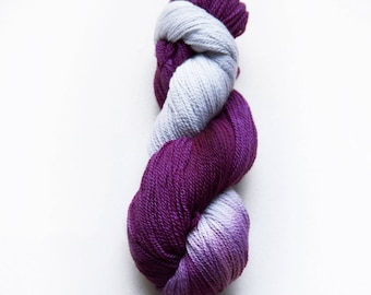 Hand dyed yarn 'Dr Love' 4 ply 100g