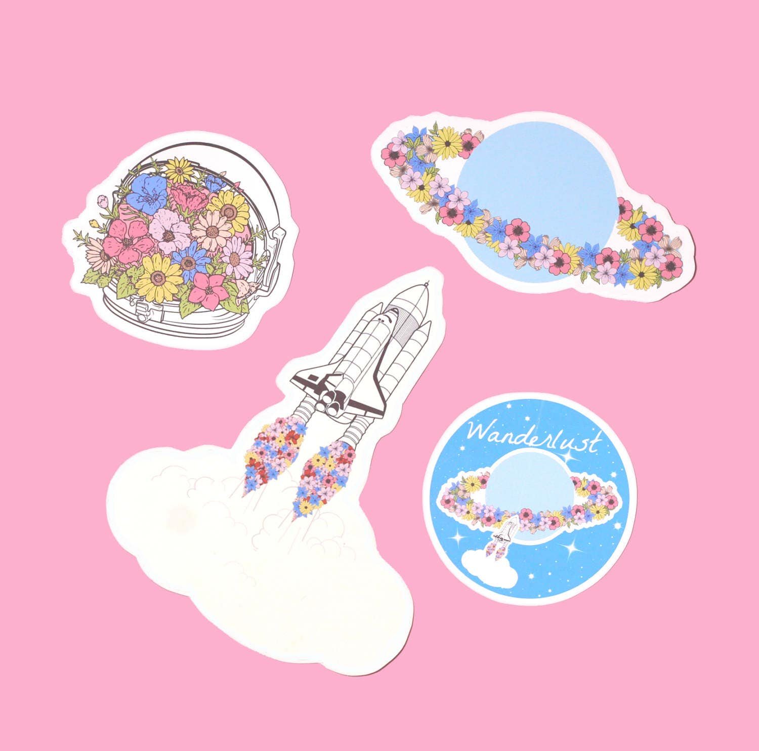 Wanderlust space sticker pack cute stickers tumblr for Space decals