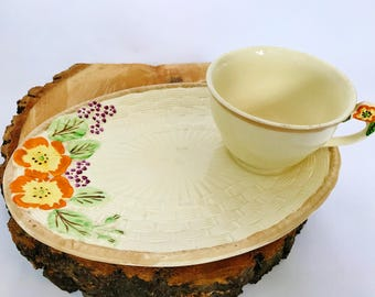 Vintage Staffordshire Teacup Set