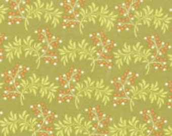 Moda - Tapestry by Fig Tree Quilts Sangria 20190-14 Green. Running Yardage**HALF YARD CUTS**