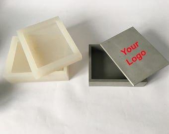 Silicone mold Box with lid. Tray, Storage Box, Jewelry Box,  Geometric mould concrete plaster