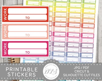 Work Stickers, Work Planner Stickers, Work Schedule Stickers, Work Box Stickers, Printable Work Stickers, Functional Stickers, FS102