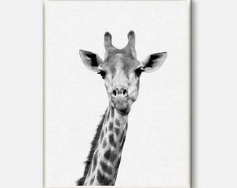 Nursery Decor, Giraffe print, Giraffe wall art, Animal Prints, Grey Modern poster, Animal Art, Safari Wall Art, Nursery Safari printable