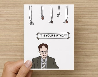 It is your birthday. || Greeting card