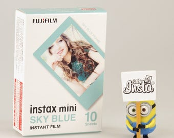 Fujifilm Instax Mini Film Sky Blue - For Instax Mini 7, 8, 8+, 25, 50, 70, 90, SP-1, SP-2 Polaroid PIC 300