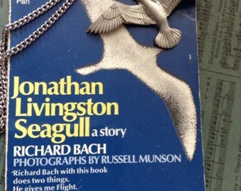 Jonathan Livingston Seagull Book and Pewter Pendant