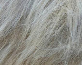 """Silver Flokati Shag Faux fur  (4"""" Pile) PREORDER"""
