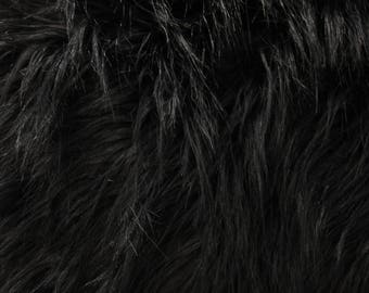 "Black Flokati  Faux fur Shag (4"" Pile)"