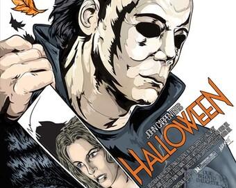 Halloween Print Alternative Movie Poster Michael Myers John Carpenter