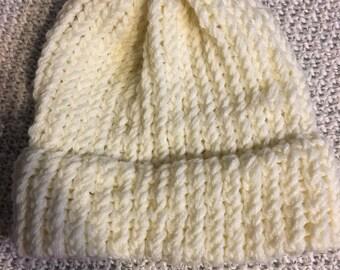 NEW ITEM!! Handmade Yellow Winter Hat