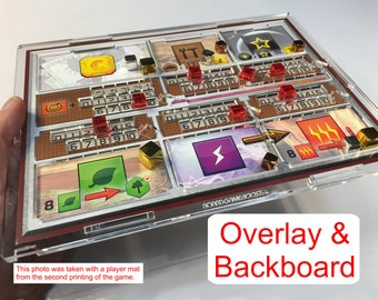 Terraforming Mars Player Mat Overlay WITH Backboard