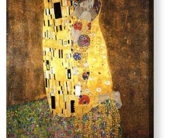"""Gustav Klimt """"The Kiss"""" Canvas Art Repro 8""""x8"""", 10""""x10"""", 16""""x16"""", 20""""x20"""", 24""""x24"""", 30""""x30"""", 44""""x44"""""""
