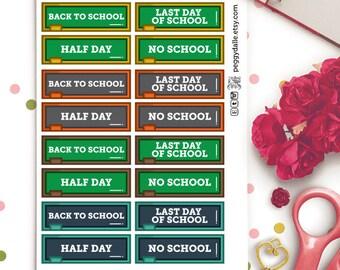 Various School Planner Stickers |  Erin Condren | Study | University | College | School | Chalkboard | Blackboard