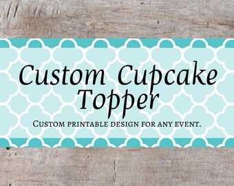 Cupcake Toppers, Custom Cupcake, Custom Labels, Personalized Label, Custom Party Printables, Round Labels, Heart Labels, Cupcake Decoration