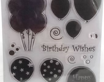 Birthday Balloons - A5 Stamp Set by Imagine Design Create