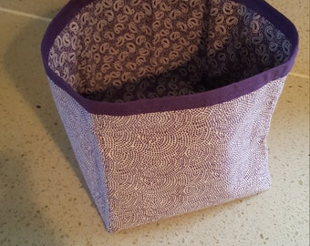 Fabric storage tubs - fully reversible