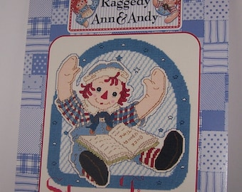 Raggedy Ann and Andy Story Time Counted Cross Stitch Pattern Chart Designs By Gloria & Pat RA-106 November II-2001