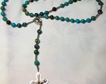 SOLD: Rosary of semiprecious stones