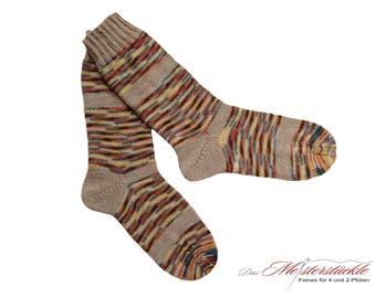 Socks hand-knitted size 40-41 striped socks