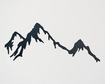 Mountain Range Metal Art (Negative)