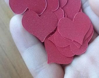50 confetti hearts. Valentine's day paper hearts