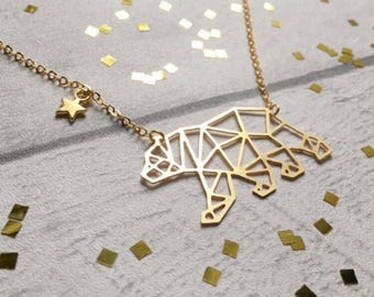 Constellation Necklace, Geometric Necklace, Bear Constellation Necklace, star necklace, Constellation Jewelry, Constellation Jewelry